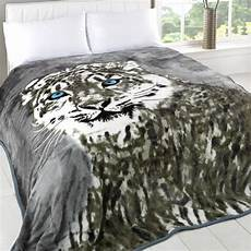 animal print faux fur large mink throw soft warm luxury