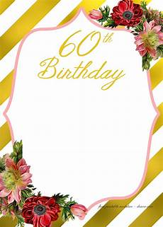 Downloadable Birthday Party Invitations Birthday Invitations Template For 50th Years Old