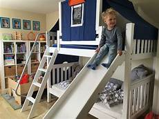 maxtrix medium bunk bed with slide and top tent is sure to