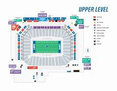 Ford Stadium Seating Chart Seating Maps Ford Field