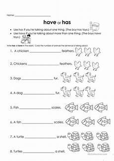 have or has worksheet free esl printable worksheets