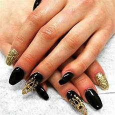Black Nail Design Ideas 28 Black Stiletto Nail Art Designs Ideas Design