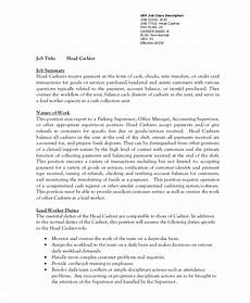 Cashier Sample Resume Free 7 Sample Cashier Resume Templates In Ms Word Pdf