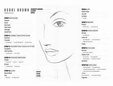 Brown Face Chart Blank Face Chart Makijaż Make Up Face Charts Szablony Do