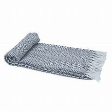 light grey woven country rustic throw blanket 100 cotton