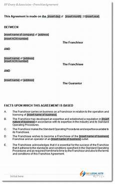 Franchise Contract Samples Franchise Agreement Template For Australian Franchises