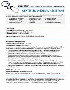 Resume For Medical Assistant Job Medical Assistant Resume Sample Monster Com