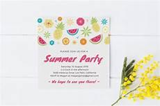 Summer Party Invites Summer Party Invitation Template Invitation Templates