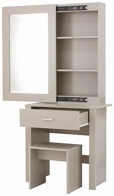 modern grey 3 shelf 1 drawer mirror dressing table vanity