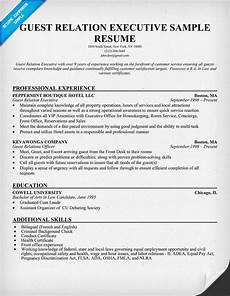 Customer Relationship Executive Resume Guest Relation Executive Resume Resumecompanion Com