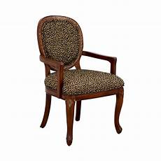 upholstered accent chairs with arms 63 leopard upholstered wood arm chair chairs