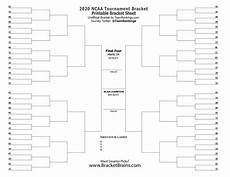 Blank March Madness Bracket Ncaa Printable Bracket 2020 Free March Madness Brackets