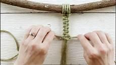 basic macrame knots simple square knot tutorial adding