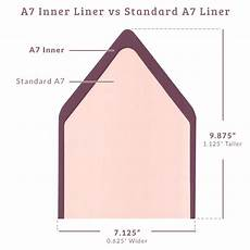 A7 Envelope Dimension Envelope Liners Inner A7 Solid Euro Flap Cards Amp Pockets