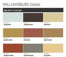 Williamsburg Color Chart Paints From Hirshfield S Williamsburg Colors Benjamin