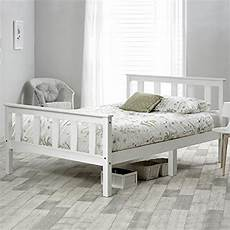 3ft 4ft single bed white solid pine wooden bed