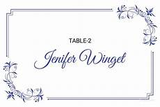 Blank Name Card Template 5 Printable Place Card Templates Amp Designs Free