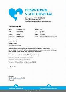 Hospital Note For Work Template 9 Best Free Doctors Note Templates For Work Every Last