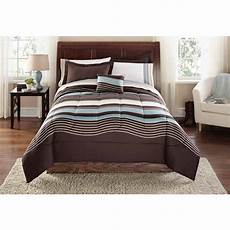 mainstays stripe bed in a bag coordinated bedding
