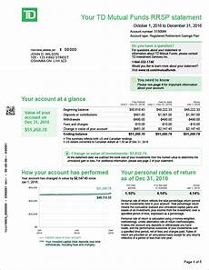 Td Bank Statements Td Canada Trust Tfsa Trading Account The Best Trading In