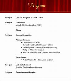Program Of Events Sample Free 38 Event Program Templates In Pdf Ms Word