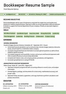 Bookeeper Resume Bookkeeper Resume Sample Amp Guide Resume Genius