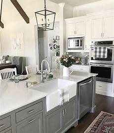 gauntlet gray on the kitchen island from our vintage nest