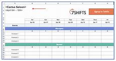 Scheduling Spreadsheet Excel How To Make A Restaurant Work Schedule With Free Excel