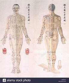 Chinese Body Chart Chinese Chart Of Acupuncture Points On A Body With