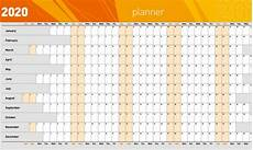 Planner Template 2020 Wall Planners Mv Print