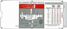 Api Flange Chart Api Flange Slide Rules By Datalizer