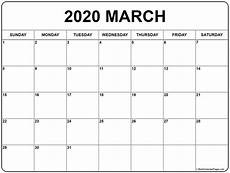 2020 17 Blank Calendar March 2020 Calendar Free Printable Monthly Calendars