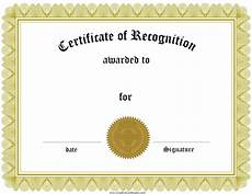 Free Editable Certificate Templates Free Certificate Of Recognition Template Customize Online