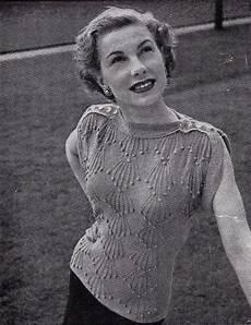 1940s yellow bobble stitch jumper pattern vintage