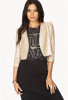 sleeve vest lyst forever 21 showstopper sequin cropped jacket in