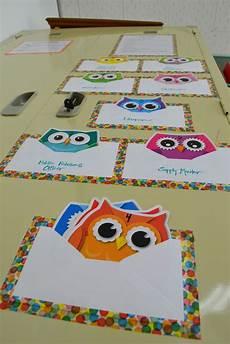 Pocket Chart Design Diy Quot Pocket Chart Quot For Classroom Jobs Owls Owl Themed