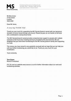 Thank You Letter For Donation Free 15 Charity Thank You Letter Samples Amp Templates In