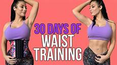 30 days of waist results with before and after