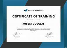 Certificate Of Training Template Free Free Security Training Certificate Template In Microsoft