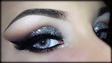makeup glitter cut crease 3d silver glitter