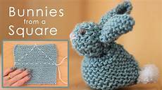 how to knit a bunny from a square studio knit