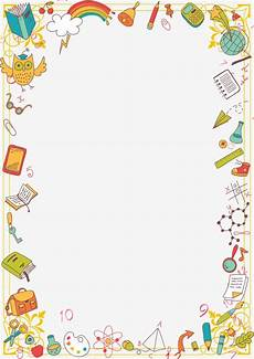 Stationery Border Design Cartoon Stationery Learning Supplies Border Material
