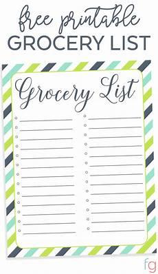 Grocery List Template Printable Free Printable Grocery List Free Organizing Printable