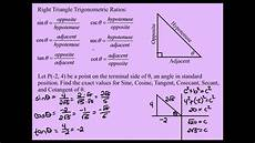 Trigonometry Ratios Right Triangle Trigonometry Finding The Six Trigonometric