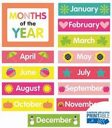 Printable Month Pina Colada Pineapple Month Printable Chart Set Grade Pk 2