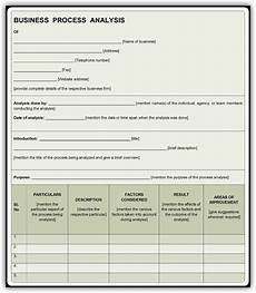 Business Process Template Word Business Process Analysis Template Free Pdf Sample