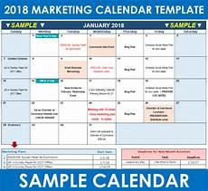 Marketing Calendar Template Excel 2018 Marketing Calendar Template In Excel Free Download