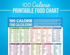 Free Download Calorie Chart 100 Calorie Digital Food Calcuations Chart For Nutrition