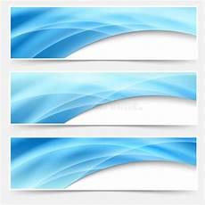 Header Blue Blue Glow Swoosh Line Header Footer Set Stock Vector