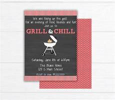 Bbq Birthday Invitations Backyard Bbq Invitation Printable Barbecue Invite Bbq Party